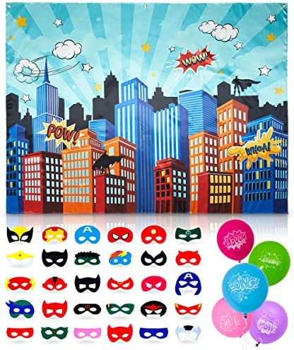 Superhero Supplies Backdrop Birthday Decorations product image