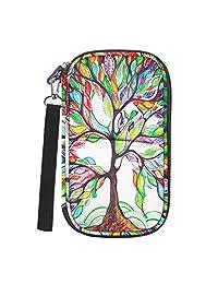 Family Passport Holder, Fintie RFID Blocking Zipper Case Document Organizer, Love Tree