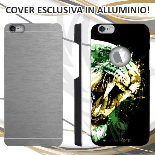 CUSTODIA COVER CASE TIGRE JAMAICA PER IPHONE 6 6S IN ALLUMINIO