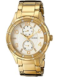 GUESS Womens U0442L2 Mid-Size Gold-Tone Multi-Function Watch