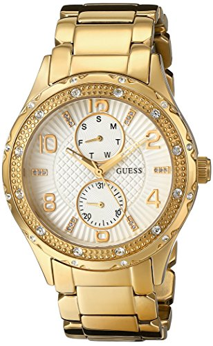 GUESS U0442L2 Mid Size Gold Tone Multi Function