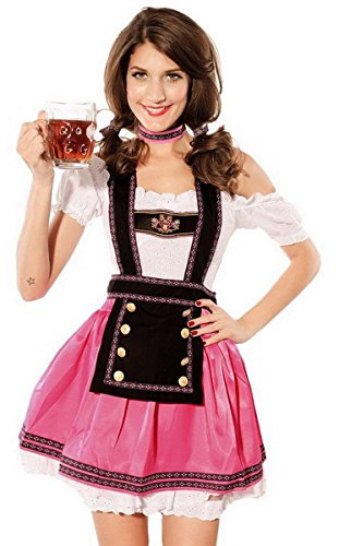Moonight Womens Babe Beer Girl Bavarian Bar Maid Costume Size L