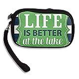 CMTRFJ Unisex Wallet for Woman Ladies -Life is Better at The Lake Purse Bag Men Gentlemen