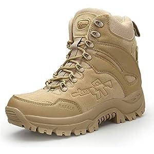 Men's Genuine Leather Lace up Closure Fashion Ankle Boots (Sandy Lable 40/6.5 D(M) US Men)