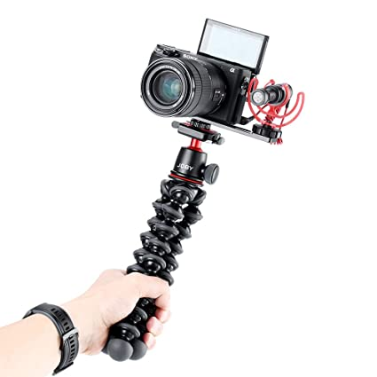 Leoie PT-5 Vlogging Microphone Mount Tripod Adapter Bracket Stand for Sony A6400 A6500 A6300 Camera