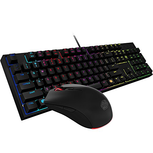 Cooler Master SGB-3040-KKMF1-US MasterKeys Lite L Gaming Keyboard & Mouse Combo, 6 Zoned RGB LED Backlit, On The Fly