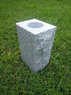 """Upstate Stone Works Granite Vase Tapered (5""""x4""""x9"""") Gray"""