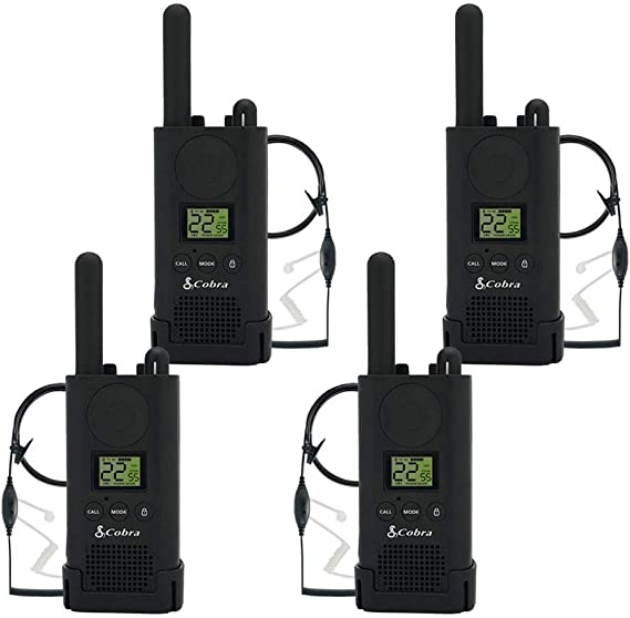 Cobra PX500 Walkie Talkies Pro Business Two-Way Radios Six Pack, Bundled with Six GA-SV01 Headsets