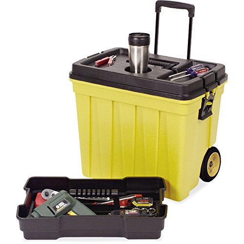 Continental Manufacturing Mobile Work Box, 23-1/2 by 15-1/2 by 20-1/4-Inch, Yellow/Black ()