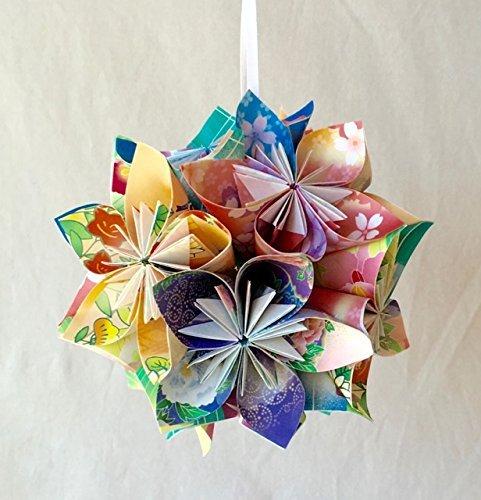 Floral Fantasy Origami Ornament (Flowers Christmas Kusudama)