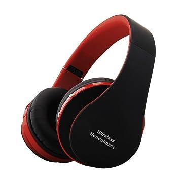 Auriculares Bluetooth plegables sobre el oído, Yigenet V4.1 auriculares inalámbricos estéreo Cancelación de