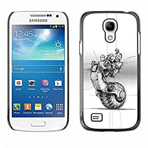 All Phone Most Case / Hard PC Metal piece Shell Slim Cover Protective Case Carcasa Funda Caso de protección para Samsung Galaxy S4 Mini i9190 MINI VERSION! bike motorcycle wheel tattoo ink ar