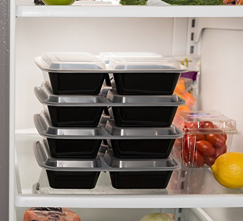 EZ-Prepa-20-Pack-32oz-3-Compartment-Meal-Prep-Containers-with-Lids-Durable-BPA-Free-Plastic-Reusable-Food-Storage-Container-Stackable-Reusable-Leak-Resistant-Microwaveable-Dishwasher-Safe