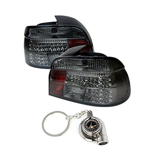 BMW E39 5-SeriesLED Tail Lights Smoke Lens With Chrome Housing+Free Gift Key Chain Spinning Turbo Bearing