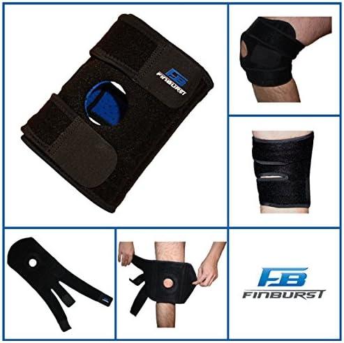 FinBurst Rodillera Deportiva - Mejore su Recuperación y Confianza - Las Mejores Rodilleras Ortopédicas para Menisco, Artrosis, Ligamentos etc.