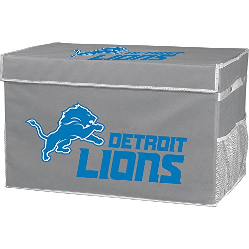 Franklin Sports Detroit Lions NFL Folding Storage Footlocker Bins - Official NFL Team Storage Organizers - Collapsible Containers - Large