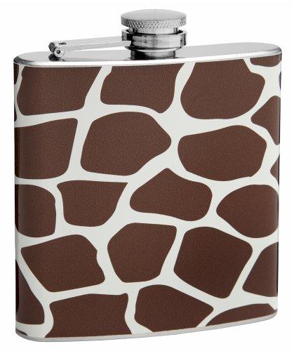 6oz Giraffe Pattern Hip Flask, Free ()