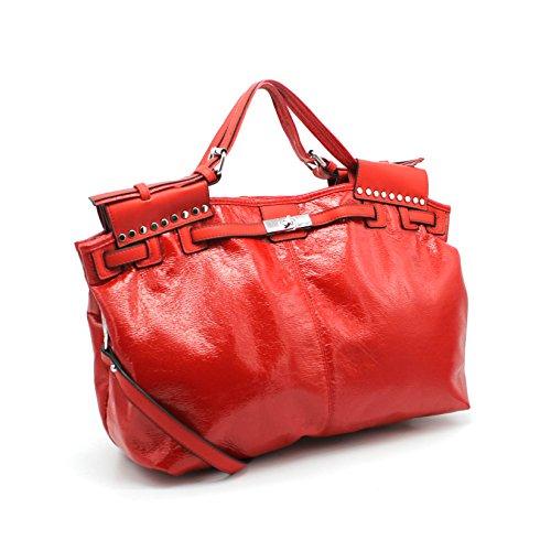 sac la à Sac à porté clouté réglable sac main Rouge main Bella bandoulière Vimoda glitter 8XEqHH