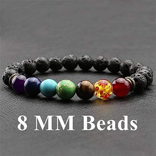 Amazon.com: Ayliss 7 Chakra 8-10mm Lava Rock Beads Healing ...