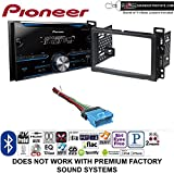 Pioneer FH-S500BT Double Din Radio Install Kit with CD Player Bluetooth Fits 2004-2007 Chevrolet Malibu, 2005-2009 Pontiac G6 (Non-Amplified only) + Sound of Tri-State Lanyard