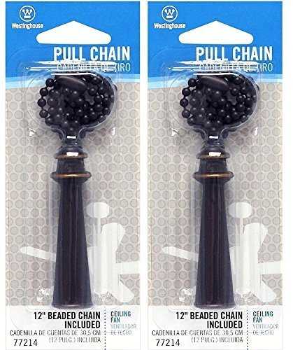Westinghouse 7721400 Lighting Trophy Pull Chain, Oil Rubbed Bronze (2 - Pack)