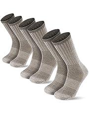 Men's Thermal 80% Merino Wool Hiking Calf Tube Socks, 3 Pack