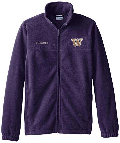 NCAA Washington Huskies Collegiate Flanker II Full Zip Fleece Jacket, Deep Purple, Small