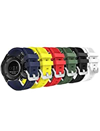 MoKo Gear S3 Frontier / Classic Watch Band, [6-PACK] Soft Silicone Replacement Sport Strap for Samsung Gear S3 Frontier / S3 Classic /Moto 360 2nd Gen 46mm Watch, NOT FIT S2 & S2 Classic, Multi Colors