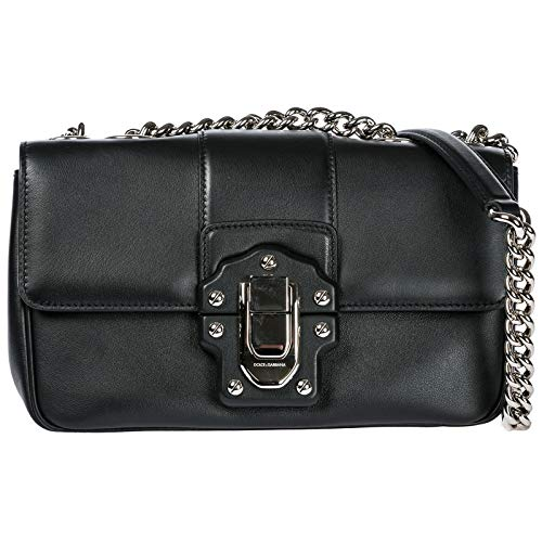 Dolce&Gabbana women's leather cross-body messenger shoulder bag matisse black