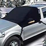 Winter Snow Windshield Cover for Car 93' x 53', Ohuhu Snow and Ice Car windshield Cover Fits Most Car Truck SUV Sedan