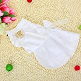 White Pet Dog Wedding Dress Apparel Clothes Neck Girth: Approx. 11 inch (28 cm), My Pet Supplies