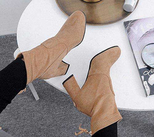 Abricot Bottines Boots Fermeture Aisun Eclair Low Femme Classique 0qnwtY4