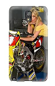 Galaxy Note 3 Girls And Motorcycles Print High Quality Tpu Gel Frame Case Cover