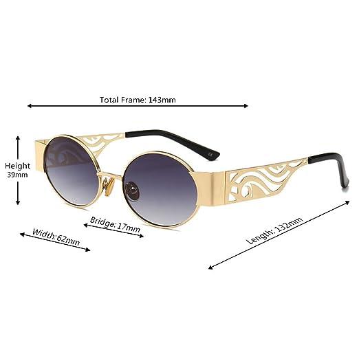 608fa717f99e0 Huicai Lentes de resina de moda para hombre y mujer Gafas de sol retro con montura  oval UV400  Amazon.es  Ropa y accesorios