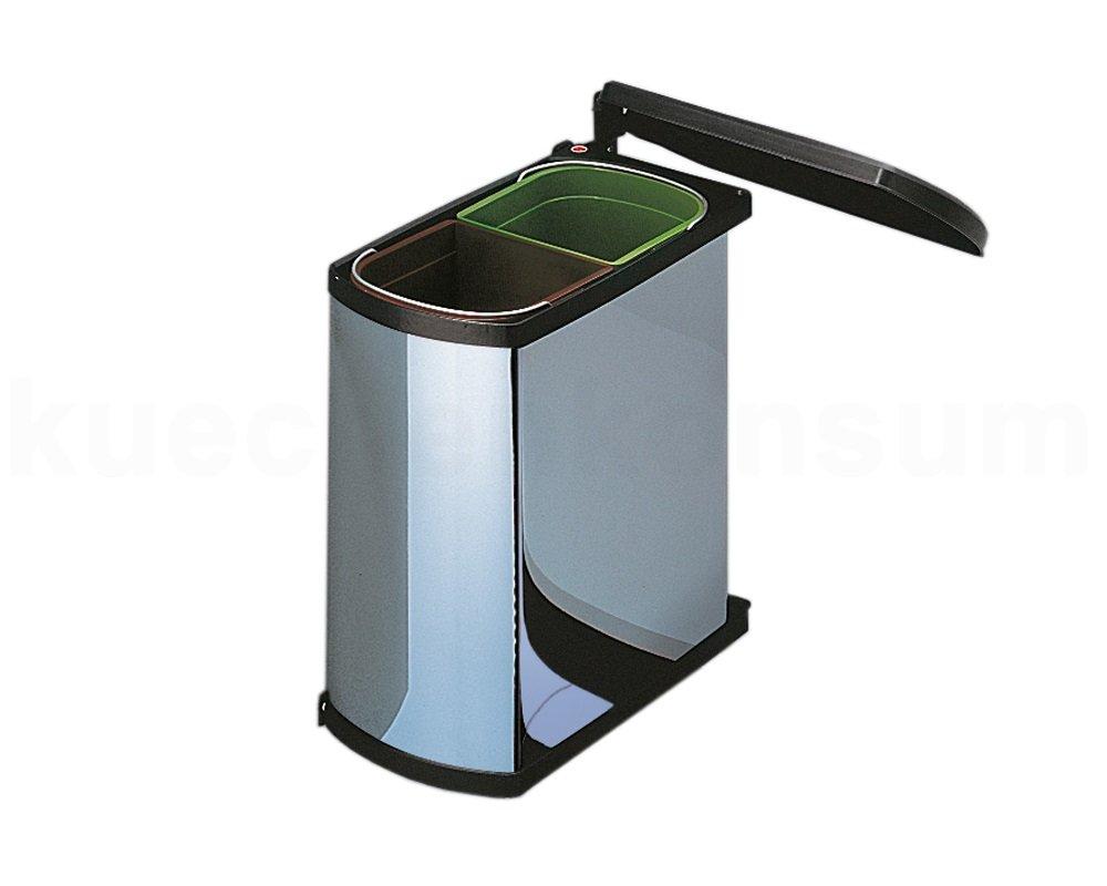 Hailo, Secchio per la spazzatura a 2 scompartimenti interni, colore: Grigio (Grau) 3416101