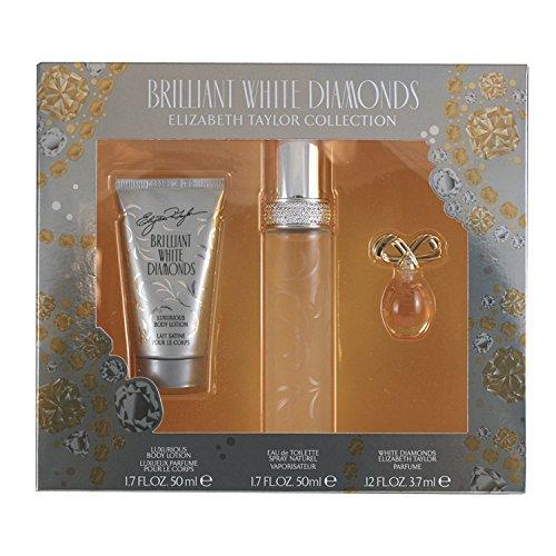 Cologne Set Gift Women (Elizabeth Taylor Brilliant White Diamonds Ladies Gift Set)