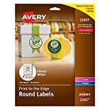Avery Printable Round Labels with Sure