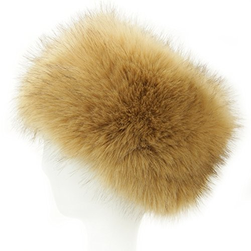 Dikoaina Faux Fur cossack Russian Style Hat For Ladies Winter Hats For Women (White Fur Hat)