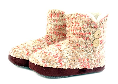 Luckers Womens Slipper Booties Dream Space Pink