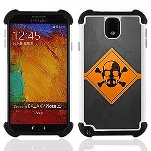 - Meth Cook Warning/ H??brido 3in1 Deluxe Impreso duro Soft Alto Impacto caja de la armadura Defender - SHIMIN CAO - For Samsung Galaxy Note3 N9000 N9008V N9009