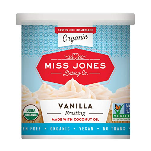 Miss Jones Baking Organic Frosting, Vanilla (Pack of 1)