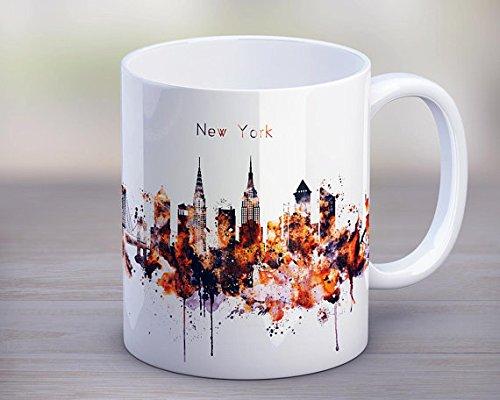 NYC Tea Mug Coffee Skyline Cup New York Silhouette Funny Kitchen Gift Travel Birthday