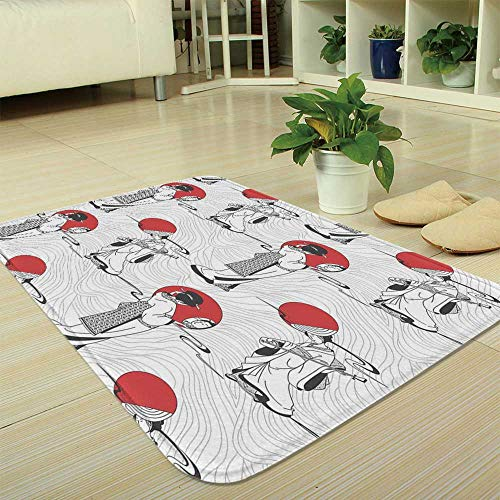 YOLIYANA Bath Mat,Asian,for Dining Room Bathroom Office,35.43