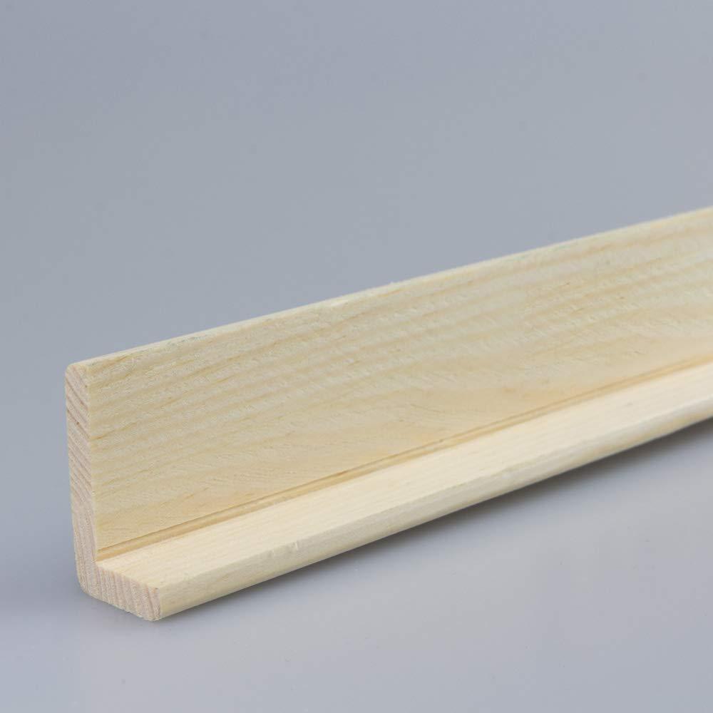 Winkelleiste Schutzwinkel Winkelprofil Tapeten-Eckleiste Abschlussleiste Abdeckleiste aus Kiefer-Massivholz 2400 x 18 x 33 mm