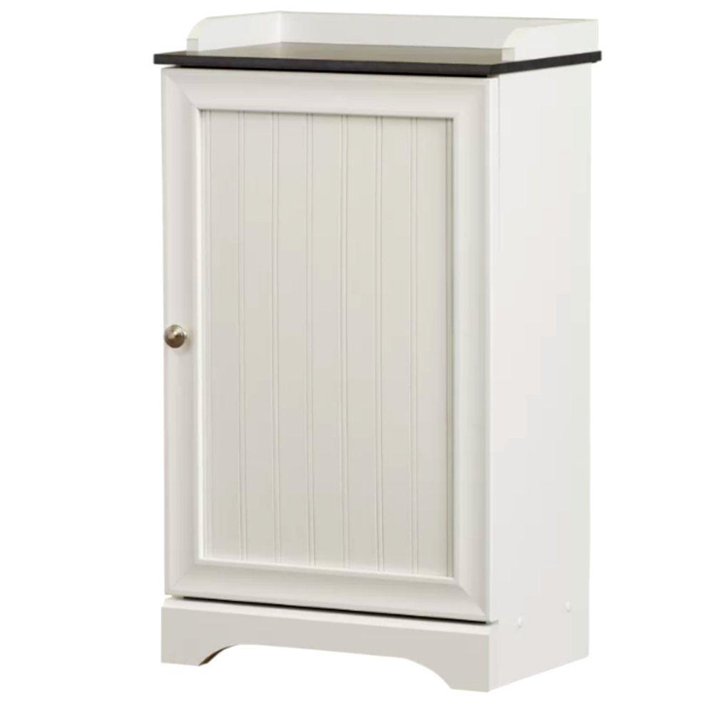 Vessel Corner Vanity Cabinet without Sink, Wide White Bathroom Cabinet, Modern 1 Door 3 Shelf Wooden Contemporary Bathroom Cabinet & E-Book