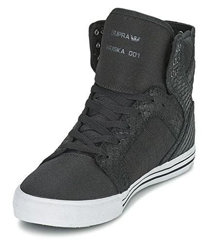 Supra Skytop Noir Blanc Hommes Cuir Baskets Chaussures Bottes