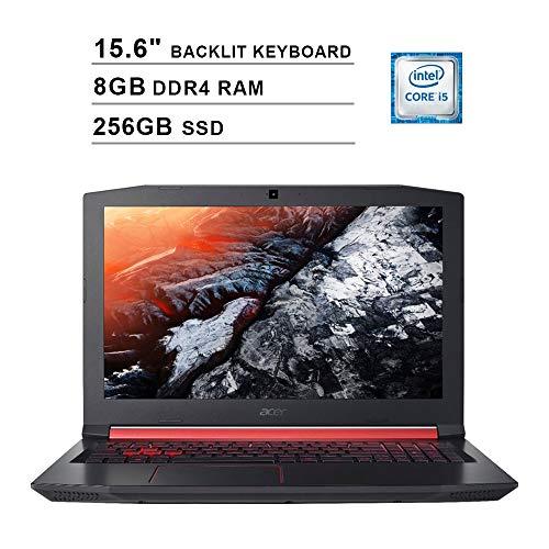 2020 Acer Nitro 5 AN515 15.6 Inch FHD Gaming Laptop (Intel Quad Core i5-8300H up to 4.0GHz, 8GB DDR4 RAM, 256GB SSD, NVIDIA GeForce GTX 1050 Ti, Backlit Keyboard, Windows 10) (Shale Black)