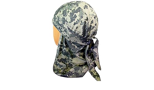Desierto gorro estilo motero Headwraps Doo diseño de camuflaje ACU camuflaje digital: Amazon.es: Ropa y accesorios
