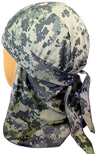 Style Skull Cap (Desert Skull Cap Biker Style Headwraps Doo - Army ACU Digital Camo)