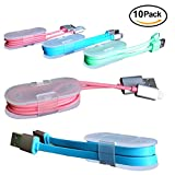 Cable Winder [10 Pack] USB Date Lightning Charging Cord Organizer Clip Earphone Headphone Wire Tie Wrap Unique Solution for iPhone 8 Plus X 7 6 5 SE Samsung Note 8 S8 S7 S6 Edge Cable Management
